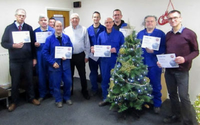 Fabdec presents long service award to employees