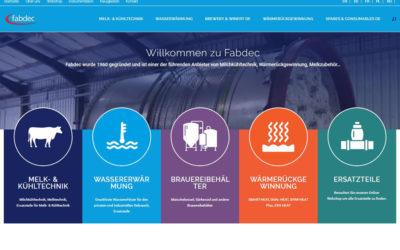 Fabdecs europäische Webseite gestartet