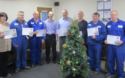 Fabdec celebrates long serving employees in festive presentation